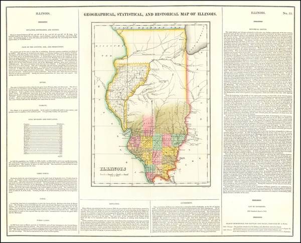 73-Illinois Map By Henry Charles Carey  &  Isaac Lea