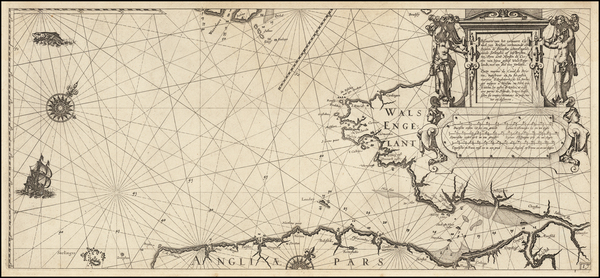 40-England Map By Willem Janszoon Blaeu