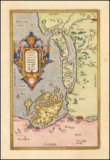 Germany and Poland Map By Abraham Ortelius