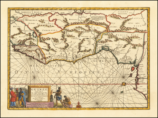 16-West Africa Map By Pieter van der Aa