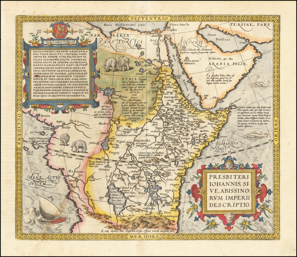 8-Africa and East Africa Map By Abraham Ortelius