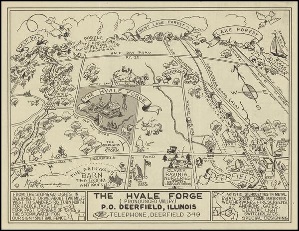 Illinois Map By James  L. Hvale