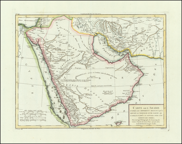 42-Middle East and Arabian Peninsula Map By Pierre Antoine Tardieu