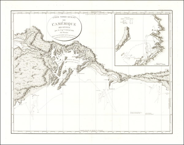 44-Alaska and Canada Map By Capt. George Vancouver
