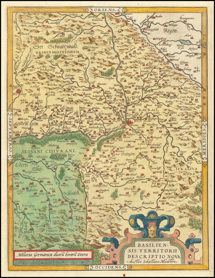 59-Switzerland Map By Abraham Ortelius