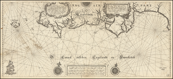37-England Map By Willem Janszoon Blaeu