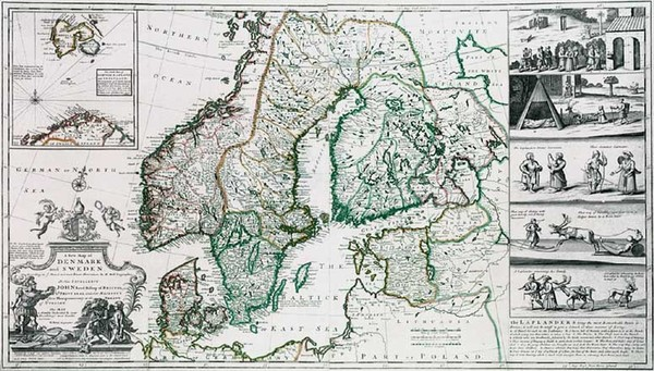 44-Europe, Baltic Countries and Scandinavia Map By Herman Moll