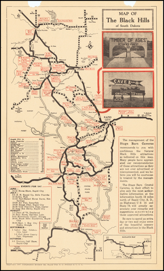 34-South Dakota Map By Automobile Club of Southern California