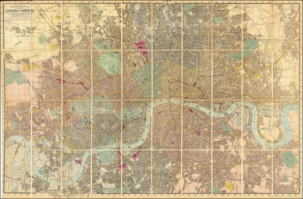 1-London Map By James Reynolds & Sons