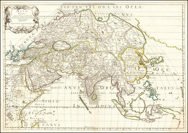 86-Alaska and Asia Map By Pierre Mariette / Nicolas Sanson