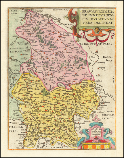 42-Germany Map By Abraham Ortelius