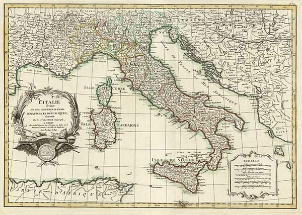 33-Europe and Italy Map By Jean Janvier