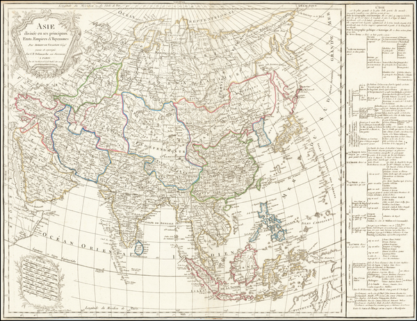 5-Asia Map By Charles Francois Delamarche