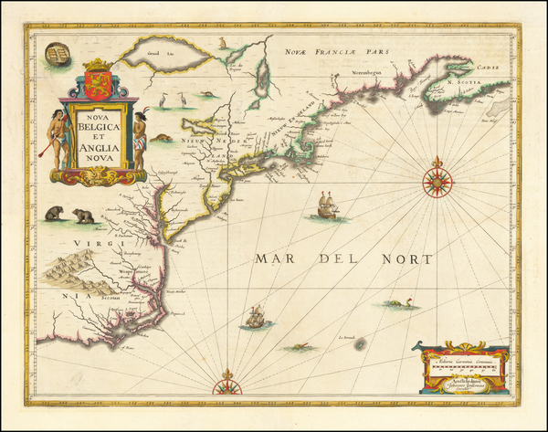 56-New England, Mid-Atlantic and Southeast Map By Jan Jansson