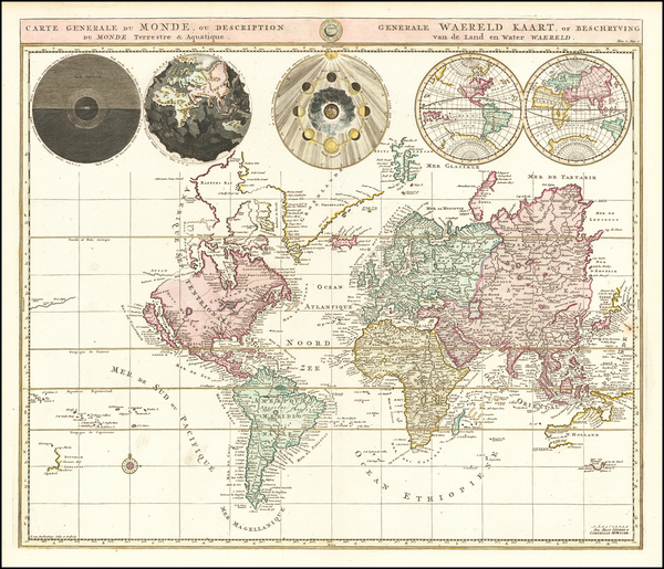 12-World Map By Johannes Covens  &  Cornelis Mortier