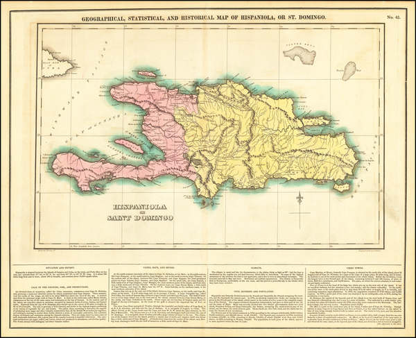 64-Hispaniola Map By Henry Charles Carey  &  Isaac Lea