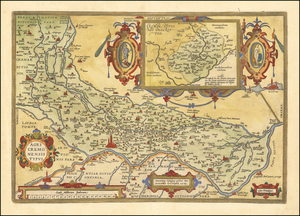 92-Northern Italy Map By Abraham Ortelius