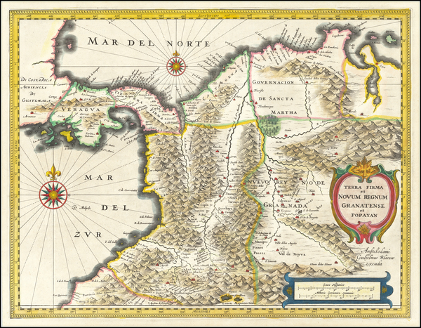1-Colombia Map By Willem Janszoon Blaeu