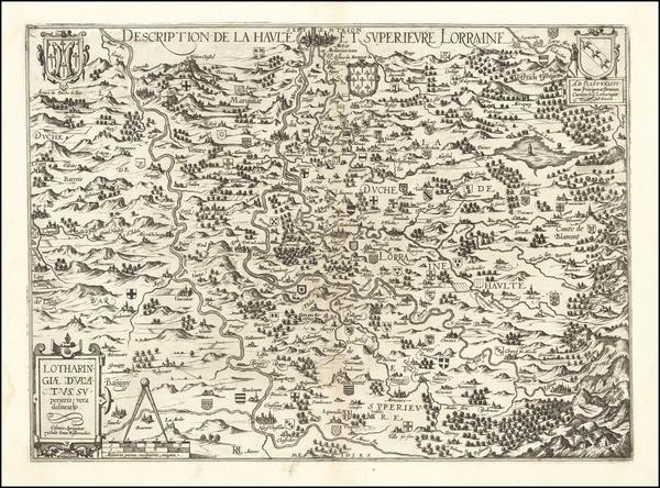 66-France Map By Johann Bussemachaer