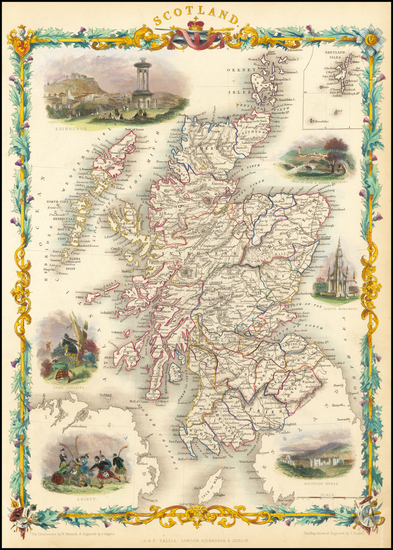 78-Scotland Map By John Tallis