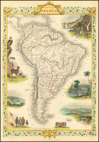 50-South America Map By John Tallis