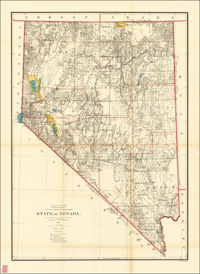 74-Nevada Map By U.S. General Land Office