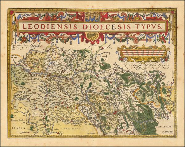 24-Belgium Map By Abraham Ortelius