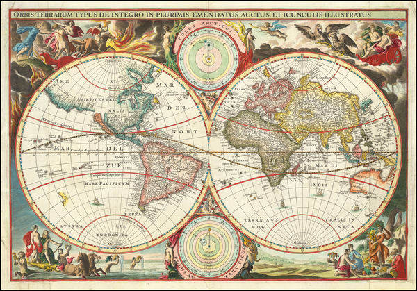 48-World Map By Cornelis II Danckerts