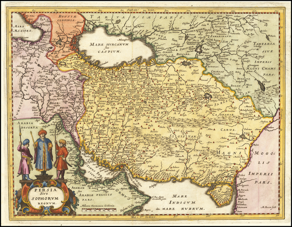 8-Middle East and Persia Map By Matthaus Merian