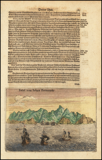 93-Chile Map By Theodor De Bry / Matthaeus Merian