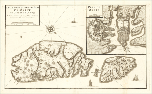 41-Malta Map By B. Antoine Jaillot