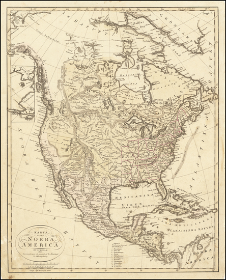 74-North America Map By E Akerland