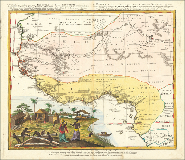 West Africa Map By Homann Heirs / Johann Matthaus Haas