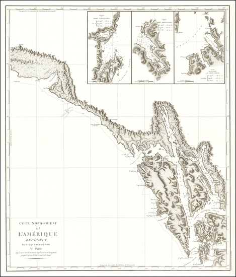 32-Alaska and Canada Map By Capt. George Vancouver