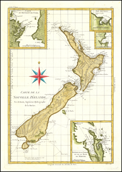 85-New Zealand Map By Rigobert Bonne