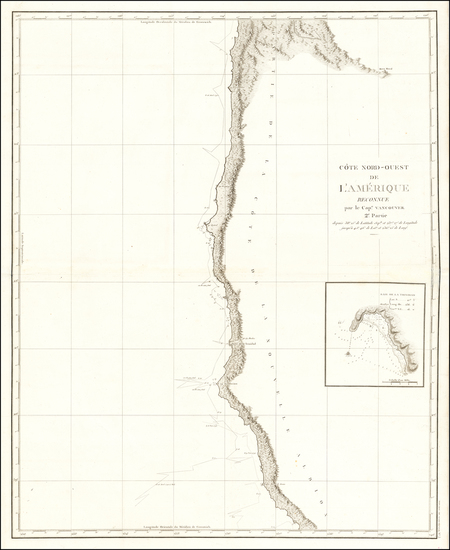 51-Oregon and California Map By Capt. George Vancouver