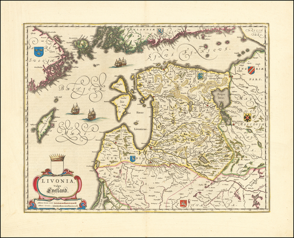 28-Baltic Countries Map By Willem Janszoon Blaeu
