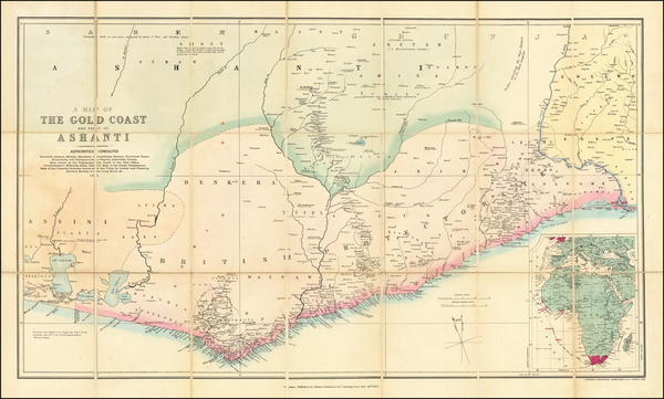 54-West Africa Map By Edward Stanford
