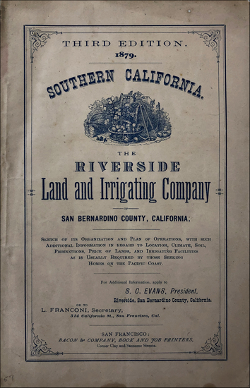 64-California, Other California Cities and Rare Books Map By S. C. Evans
