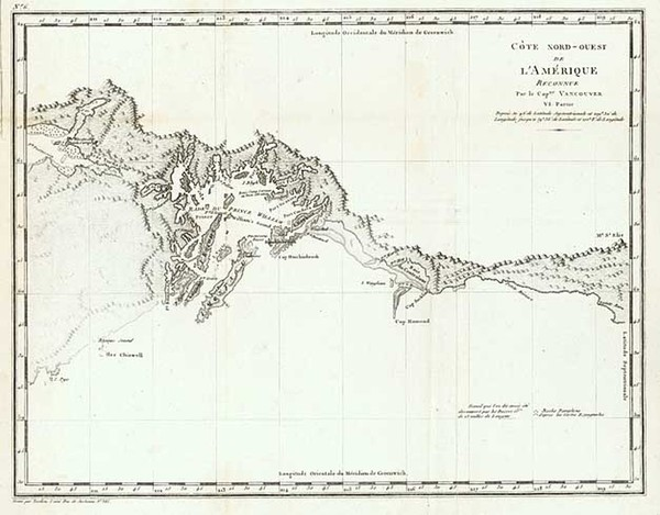 81-Alaska and Canada Map By George Vancouver