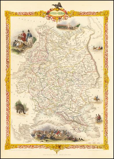 60-Russia and Ukraine Map By John Tallis