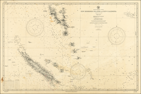 97-Oceania Map By U.S. Hydrographical Office