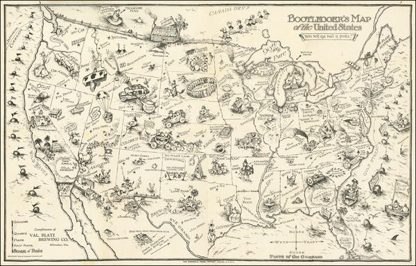 United States Map By Edward Gerstell McCandlish