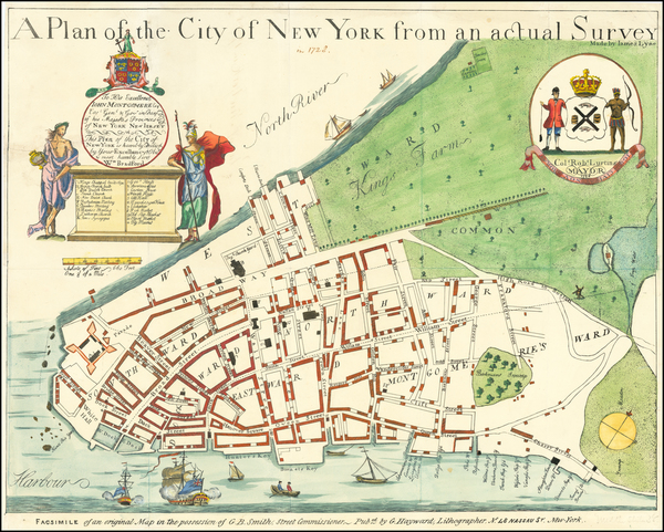 New York City Map By Valentine's Manual