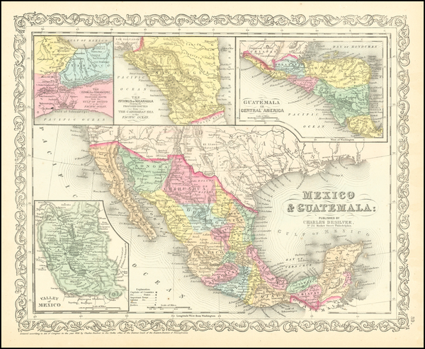 93-Texas, Southwest, Mexico and California Map By Charles Desilver
