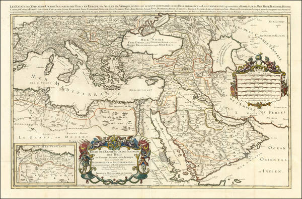 27-Turkey, Mediterranean, Middle East, Arabian Peninsula and Turkey & Asia Minor Map By Alexis