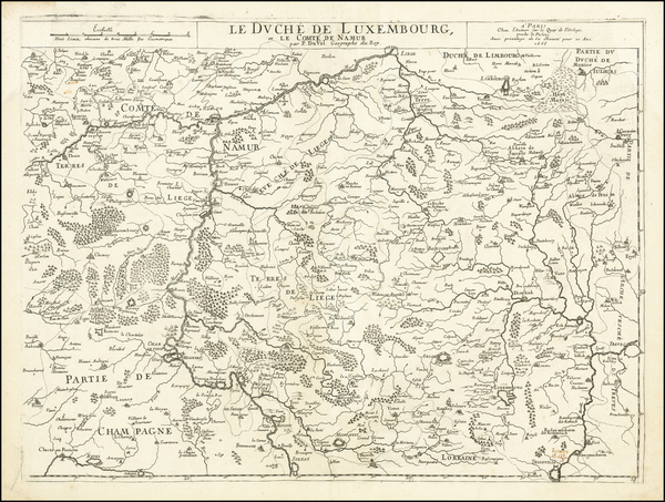 46-Belgium and Luxembourg Map By Pierre Du Val