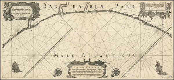 38-North Africa Map By Willem Janszoon Blaeu