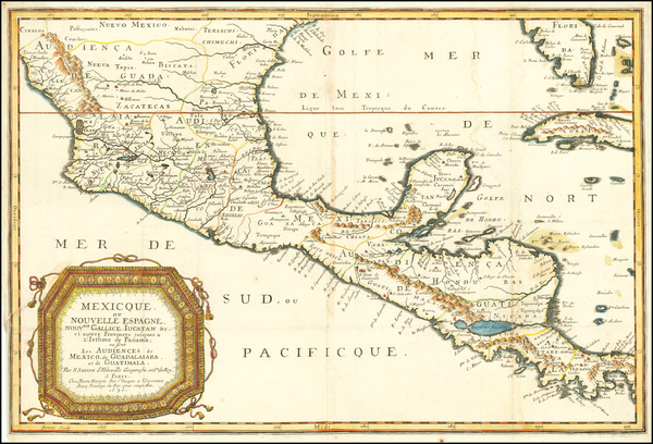 41-Florida and Mexico Map By Nicolas Sanson