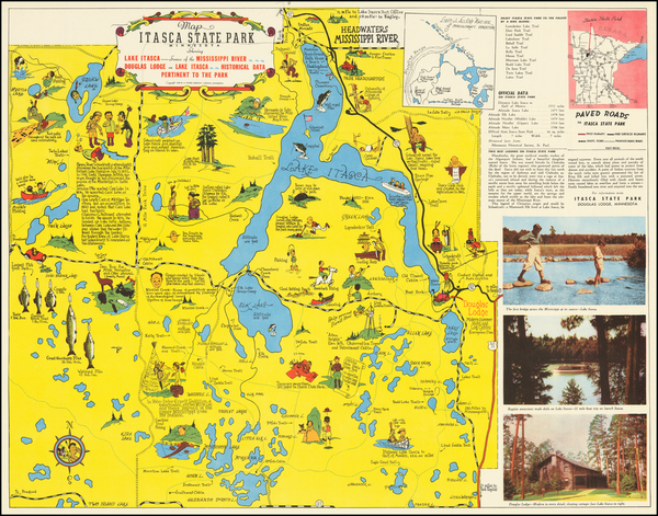 86-Minnesota and Pictorial Maps Map By Frank Antoncich